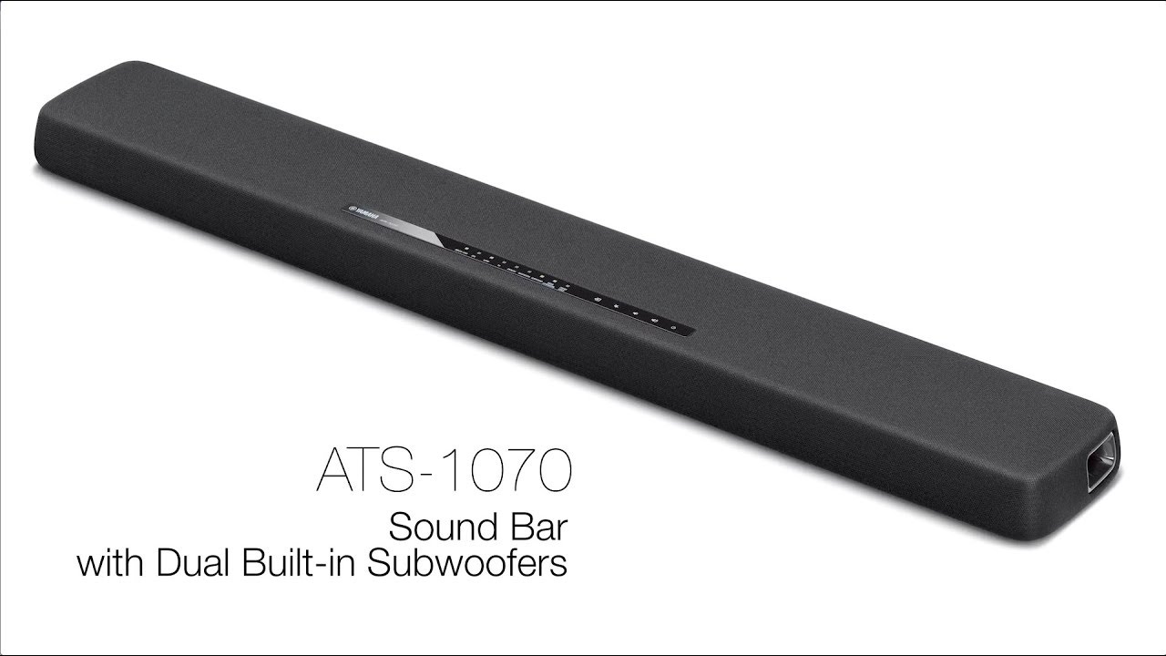 Yamaha ATS-1070R Sound Bar with Dual Built-in Subwoofers