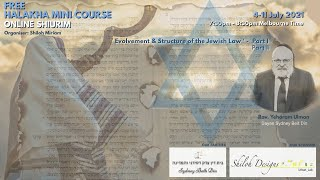 Halakha Mini Course - Part I - Evolvement & Structure of the Jewish Law - Rav. Yehoram Ulman