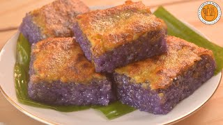 Ube Biko with Yema Topping  Ep. 104  Mortar and Pastry