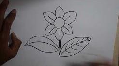 Cara Menggambar Bunga Simpel untuk pemula