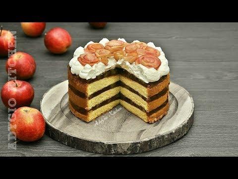 Tort de mere cu frisca si blat cu vanilie | Adygio Kitchen