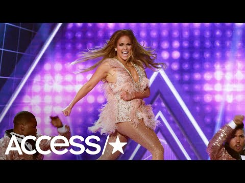 JLo Strips Down To Bedazzled Bodysuit At Grammys & A-Rod Can't Take His Eyes Off Her