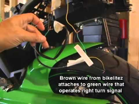 Bikelitez Integrated Tail light install. Ninja 250 on