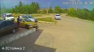 Девочки в маленьком Peugeot и парапет 17.07.2018 ДТП