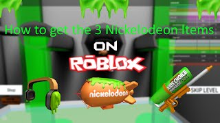 How To Get The 3 Nickelodeon Items On Roblox [Tutorial]