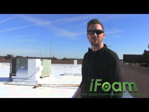 Spray Foam Over Built-Up Flat Roof Montomery, AL | Foam Roofing Contractor