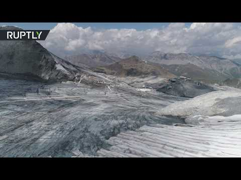 Lucifer vs Alps: Dramatic impact of heat wave on European glaciers (Drone footage)