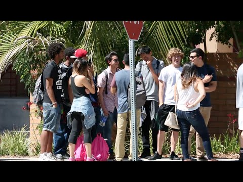 Cutting College Kids In Line Prank