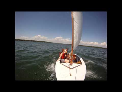 Sailing Our Blue Jay on Clark's Lake