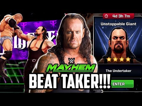 WWE MAYHEM UNDERTAKER UNSTOPPABLE GIANT EVENT! HOW TO BEAT HIM!!!