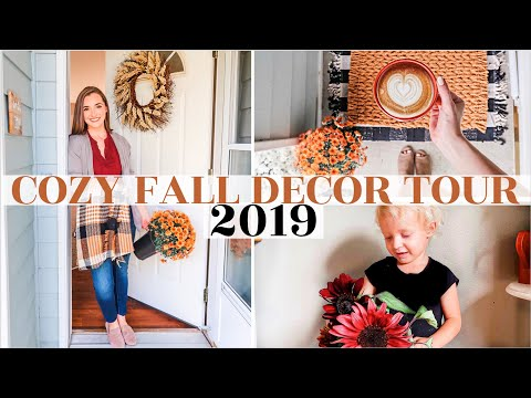 🍁FALL DECOR TOUR 2019 | Clean + Decorate With Me ✨| Cozy, Minimal, Hygge autumn decor ideas + DIY
