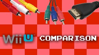 Wii U video cable comparison