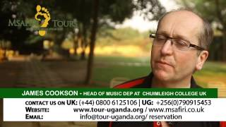 UK school tours to Africa-Uganda videos-Msafiri tours Travel TV(School trip to Africa-Uganda review by Mr Cookson head of Cultural enrichment at Chulmleigh Community College Devon England. Msafiri tours organises ..., 2014-04-03T13:40:22.000Z)