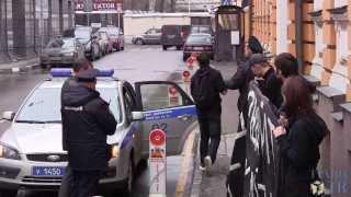 """Акция в поддержку рабочих """"Антолина"""" у посольства Испании"""