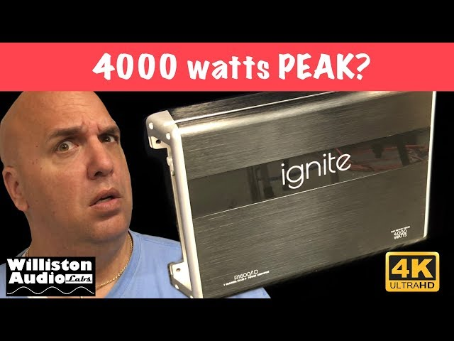 4000 watts for $75? Ignite Audio R1600/1D Amp Dyno Test (4K)