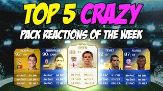 fifa 14 top 5 crazy pack reactions of the week 6 ft 3x tots in 1 pack twice