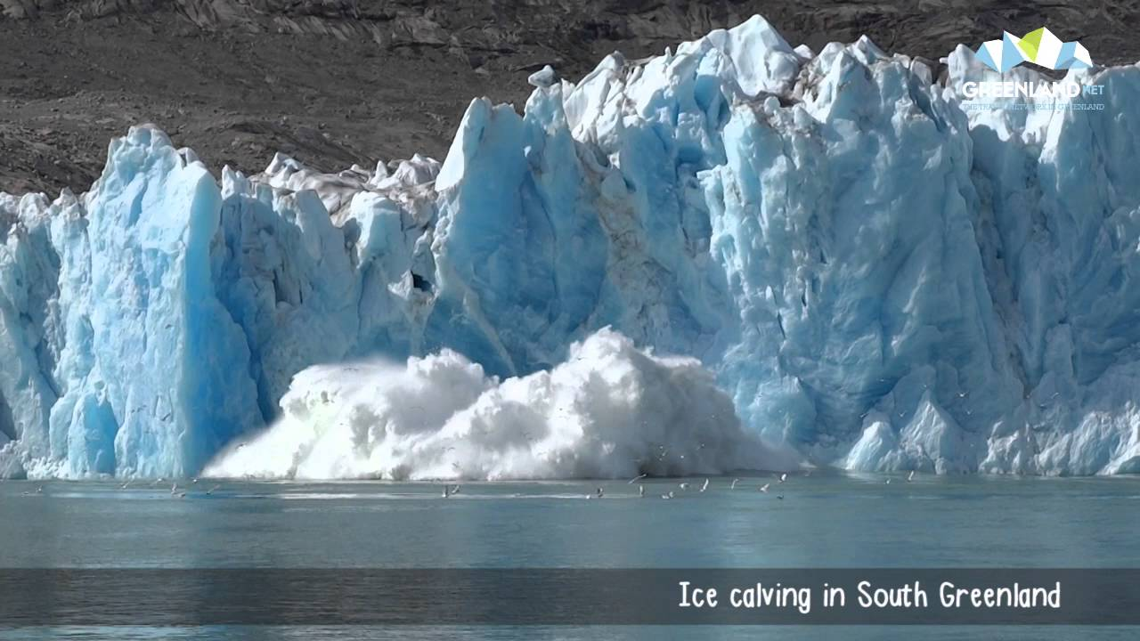 Image result for pictures of greenland ice sheet calving