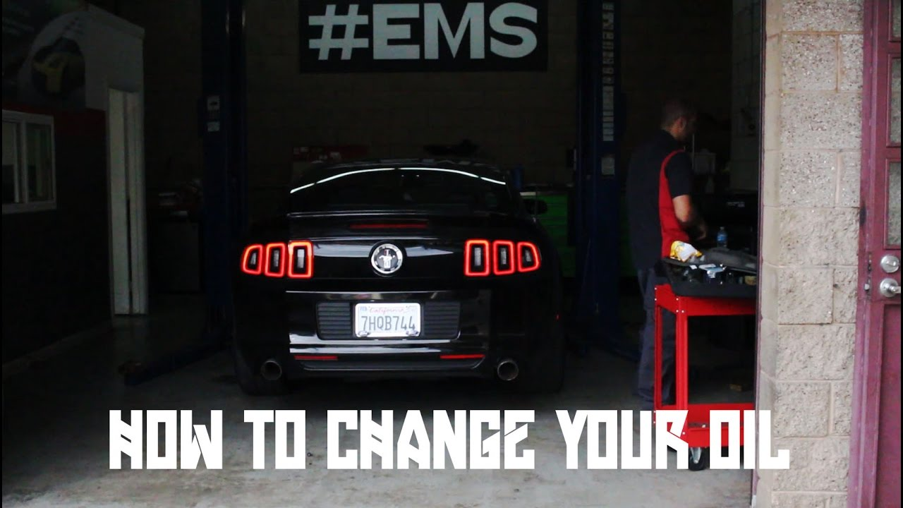 How to do an Oil Change on a 2014 Mustang V6  YouTube
