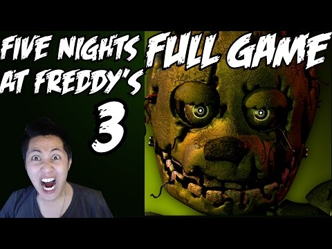 Five Nights at Freddy's 3 Walkthrough Part 1 Full Game Nights 1-5 Gameplay Let's Play  Review