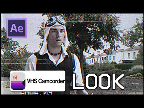 Vhs Camcorder Look No App Tutorial  After Effects  - Free Stock Footage