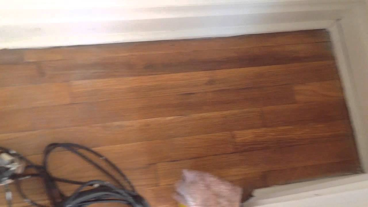 Wood Floors Blended With Stain After Stripping