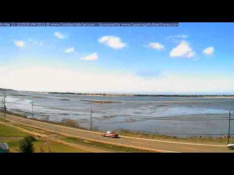Tsunami wave action Coos Bay, Oregon March 11, 2011 time-lapse