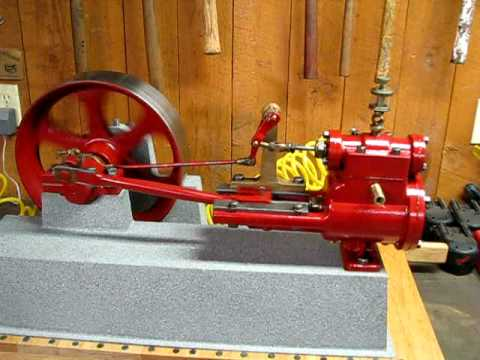 Small antique stationary steam engine youtube for Stationary motors for sale
