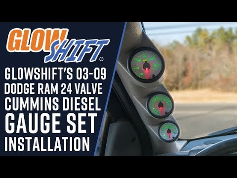 GlowShift | How To Install A 2003-2009 Dodge Ram 24 Valve Cummins Diesel Gauge Set