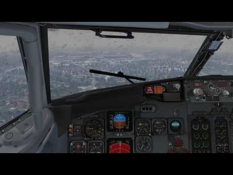 X-Plane 11 | Rainy landing in Hamburg (EDDH) | IXEG 737-300