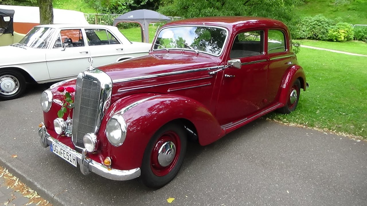 1952 Mercedes Benz 220 W 187 Oldtimer Meeting Baden