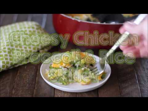 Cheesy Chicken Broccoli & Rice Skillet