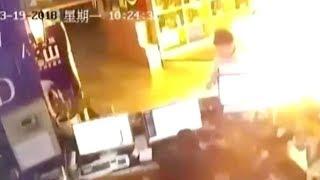 Fridge explosion a near miss to customer at C China Internet cafe