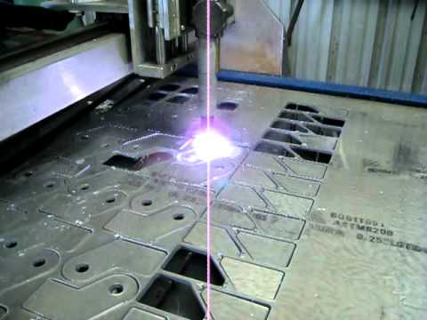 Cnc Plasma Table Cutting 1 4 Quot Aluminum 6061 T561 Youtube