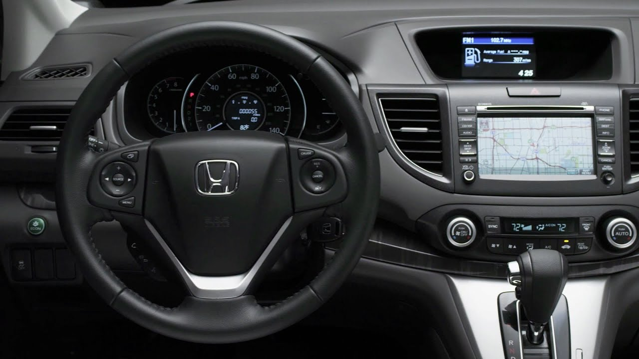 Crv Honda 2013 >> 2013 Honda CR-V AWD EX-L INTERIOR - YouTube