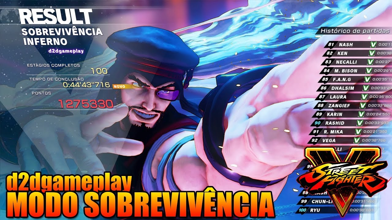 Street Fighter V: De Volta do Inferno - Modo Sobrevivência