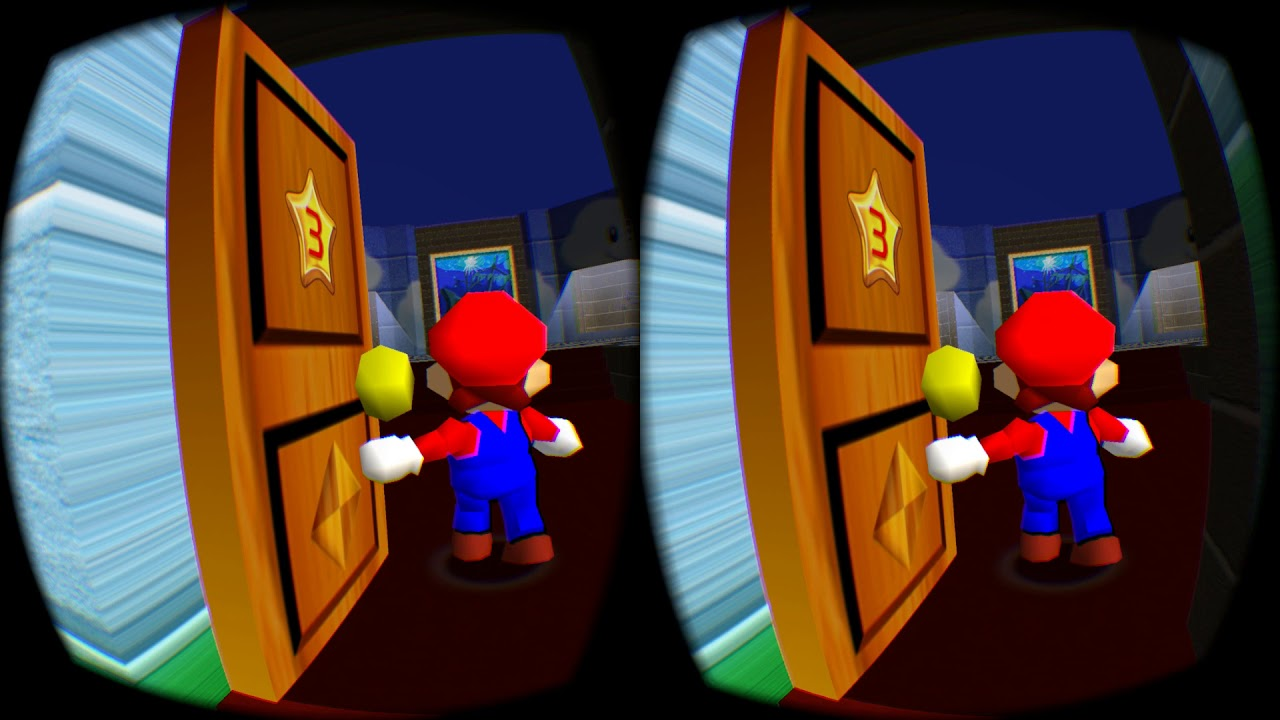 Super Mario 64 in Dolphin VR - No Flashing Skies