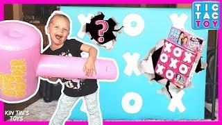 Tic Tac Toe GIANT SMASH WALL | Surprise Toys | 3 Rares & 1 Ultra Rare FOUND! | XOXO Tic Tac Toy