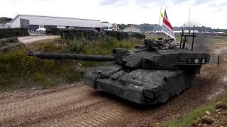 British Army Vehicle Display - tanks, assault, support, engineer vehicles - Tankfest 2016