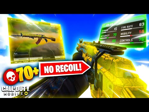 This Kn-44 Gunsmith SETUP has NO RECOIL! 70+ Kills (World Record) | Cod Mobile