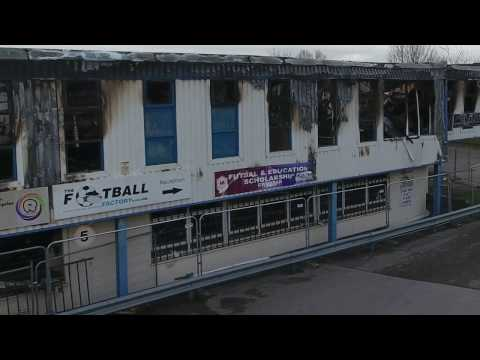 Football factory Cwmbran after the fire