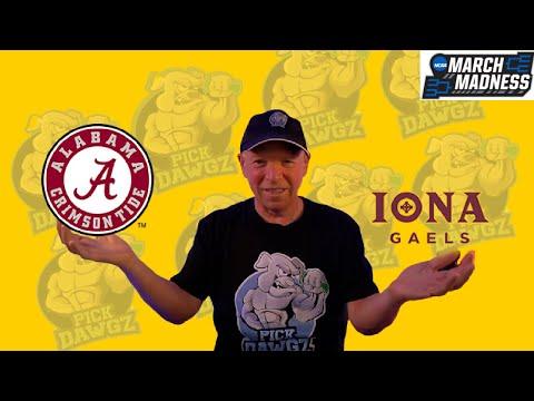 Alabama vs Iona 3/20/21 Free College Basketball Pick and Prediction NCAA Tournament