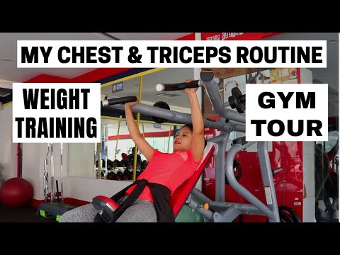 My Chest and Triceps Weight Training Workout Routine in Kokborok || Bangalore SNAP FITNESS Gym Tour