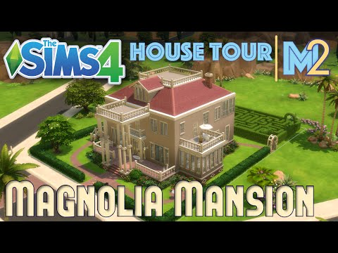 The Sims 4 House Tour - Sears Magnolia Mansion with Hedge Maze