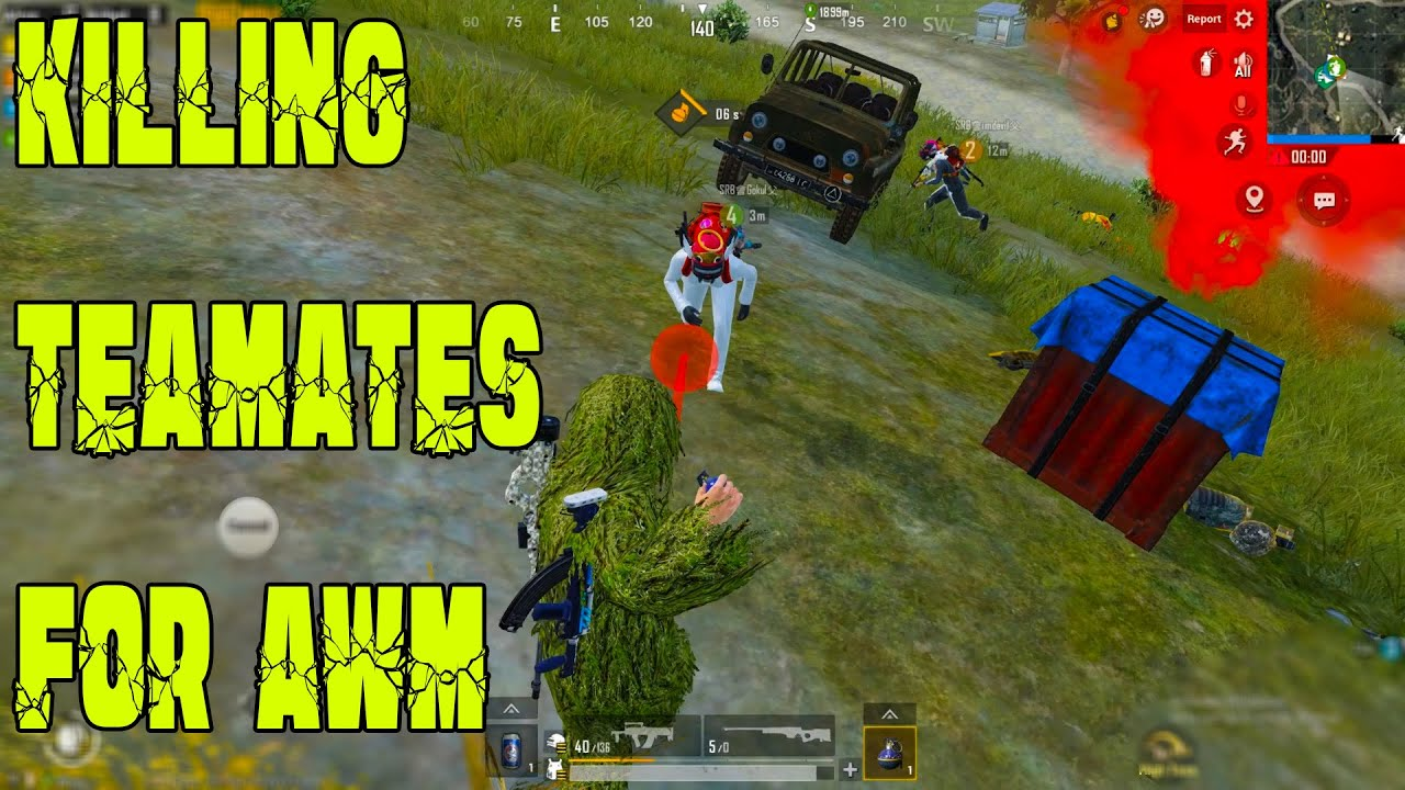 Trying To Kill Own Teamates For AWM Bullets - SRB Zeus Verithanam #POG-PassionOfGaming