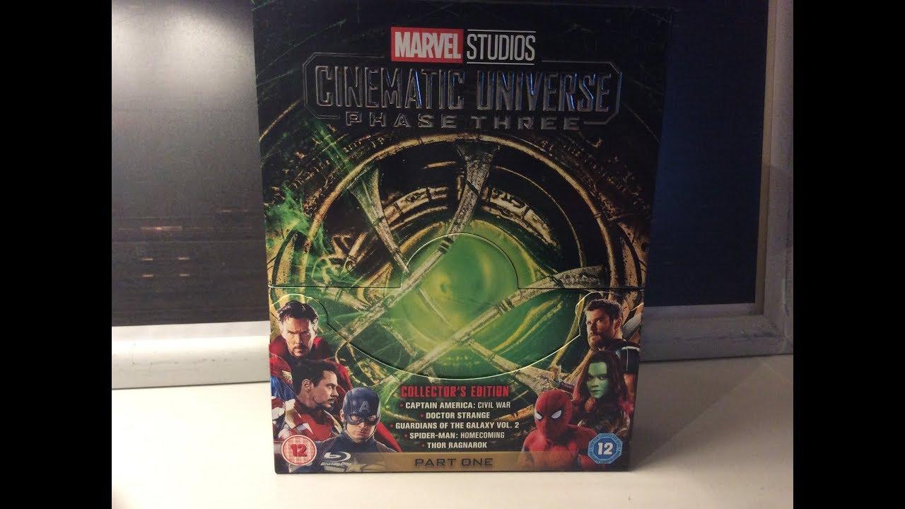 Marvel Cinematic Phase Three, Part One Blu Ray boxset - 2018