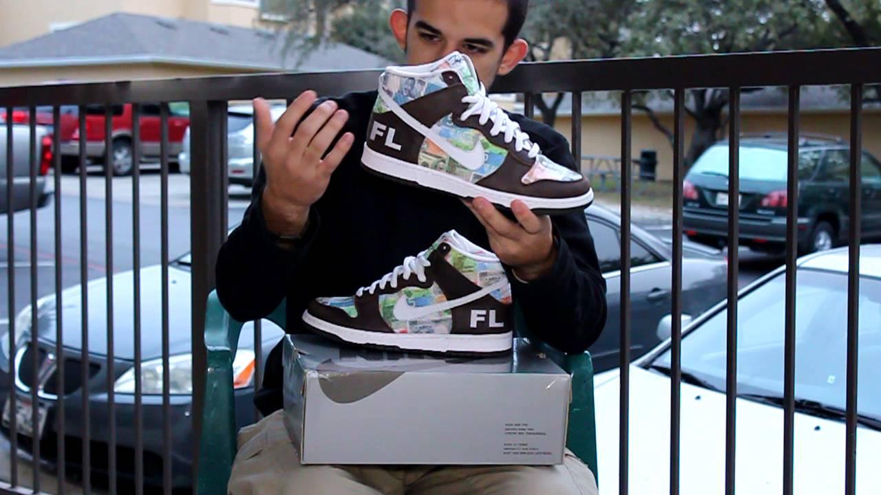 FLOM Nike SB Dunk High - YouTube