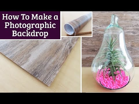 DIY 'Wood' Backdrop for Product Photography