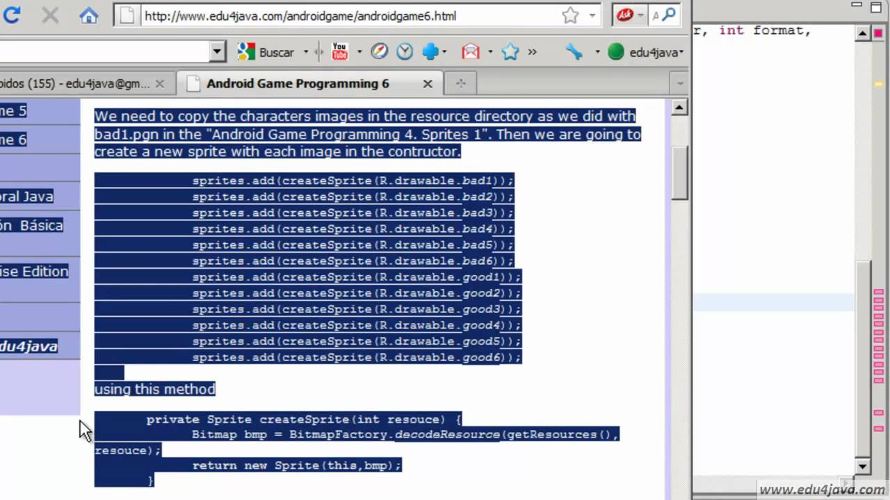 Working with Multiple Sprites  Android Game Programming 6
