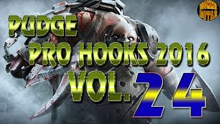 Dota 2 Pudge Pro Hooks 2017 - Weekly Hooks VOL.24