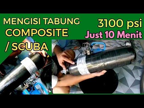 ISI TABUNG COMPOSITE / SCUBA 4Ltr CUMA 10menit